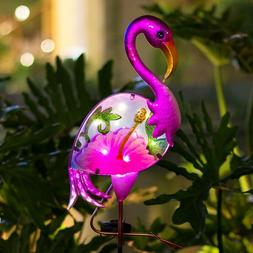 Boaer Flamingo Solar Pathway Lights Outdoor,Garden Stake Dec
