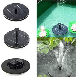 Floating Solar Light Water Fountain Lake Garden Stake Decora