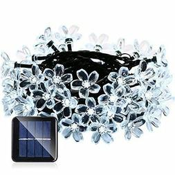 Qedertek Solar String Lights, Fairy Garden Blossom Christmas