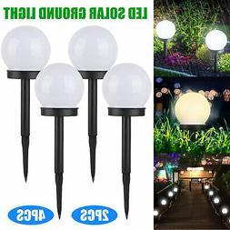 Flowerbed Solar Ground Ball Lights LED Path Patio Garden Dec