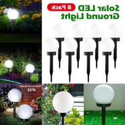 Flowerbed Solar Ground Ball Lights White LED Path Way Patio