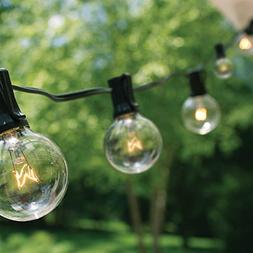 50Ft G40 String Lights with 50 Globe Lights  for Indoor & Ou
