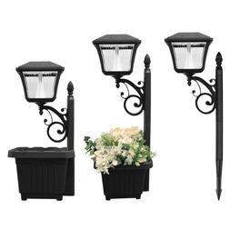 Gama Sonic 4 Light LED Solar Path and Garden Light with Plan