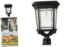 GAMA SONIC Colonial Solar Post Light, Outdoor Solar Powered