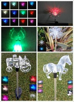 Garden Decoration Solar Powered Color Changing Pathway Lawn