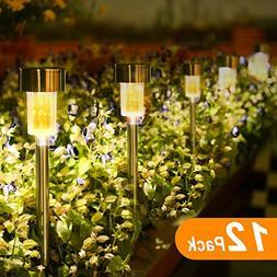 Sunnest 12Pack Outdoor Garden Lights, LED Solar Powered Path
