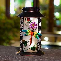 BOAER Garden Solar Lantern Lights Outdoor Hanging Dragonfly