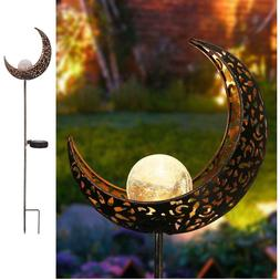 Homeimpro Garden Solar Lights Pathway Outdoor Moon Crackle G