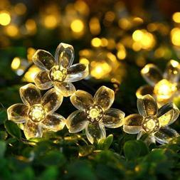 Qedertek Garden Solar String Lights,22.96ft 50 LED Fairy Blo