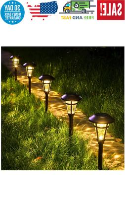 GIGALUMI 6 Pcs Led Solar Lights Outdoor, Bronze Finshed, Gla