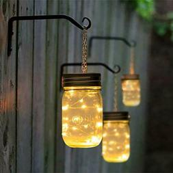 GIGALUMI Hanging Solar Mason Jar Lid Lights Great Outdoor La