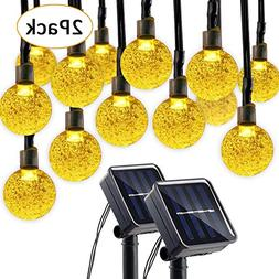 Lumitify 2 Pack Globe Solar String Lights, 19.7ft 30 LED Fai