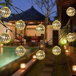 Globe String Lights, CMYK 20 Ft 40 Balls Waterproof LED Fair
