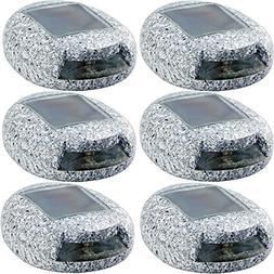 HunnyKome Solar Lighting Gray Integrated LED Deck Light with