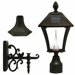 Gama Sonic GS-106FPW-B Baytown Lamp Outdoor Solar Light, Pol