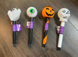 Halloween Solar Lights Skull, Ghost, Pumpkin, Eyeball Set Of