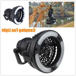 hang-on Ceiling Fan LED Solar Power Camping Lantern Outdoor
