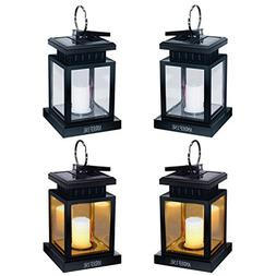 ANDEFINE Hanging Solar Lanterns Outdoor LED Umbrella Lights