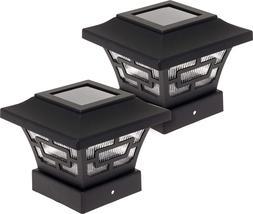Hilltop 20 Lumens Solar Fence Post Cap Lights For 4x4 Wood P
