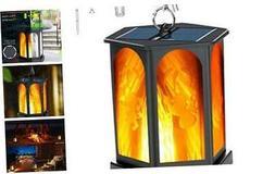 Idealife Solar Lantern Lights Dancing Flame Waterproof Outdo