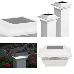 Imperial 4 In. X 4 In. Outdoor White Cast Aluminum Led Solar