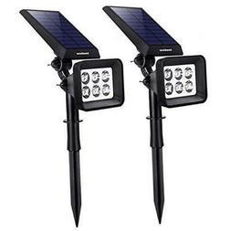 InnoGear Solar Lights Outdoor, 6 LED Solar Landscape Spotlig