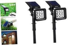 innogear solar lights outdoor 6 led solar
