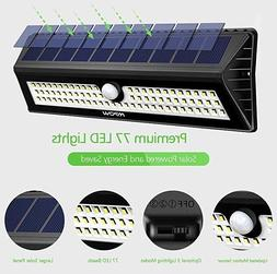 InnoGear Upgraded 77LED Solar Lights Outdoor Waterproof Moti