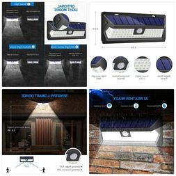 InnoGear Upgraded Solar Lights Outdoor Motion Sensor Wall Li