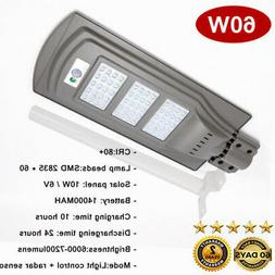 IP65 60W LED Street Solar Power Lights Outdoor Wall Pole Sec