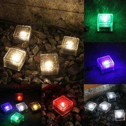 IP68 Glass Brick Solar Underground Light Outdoor Pathway Flo