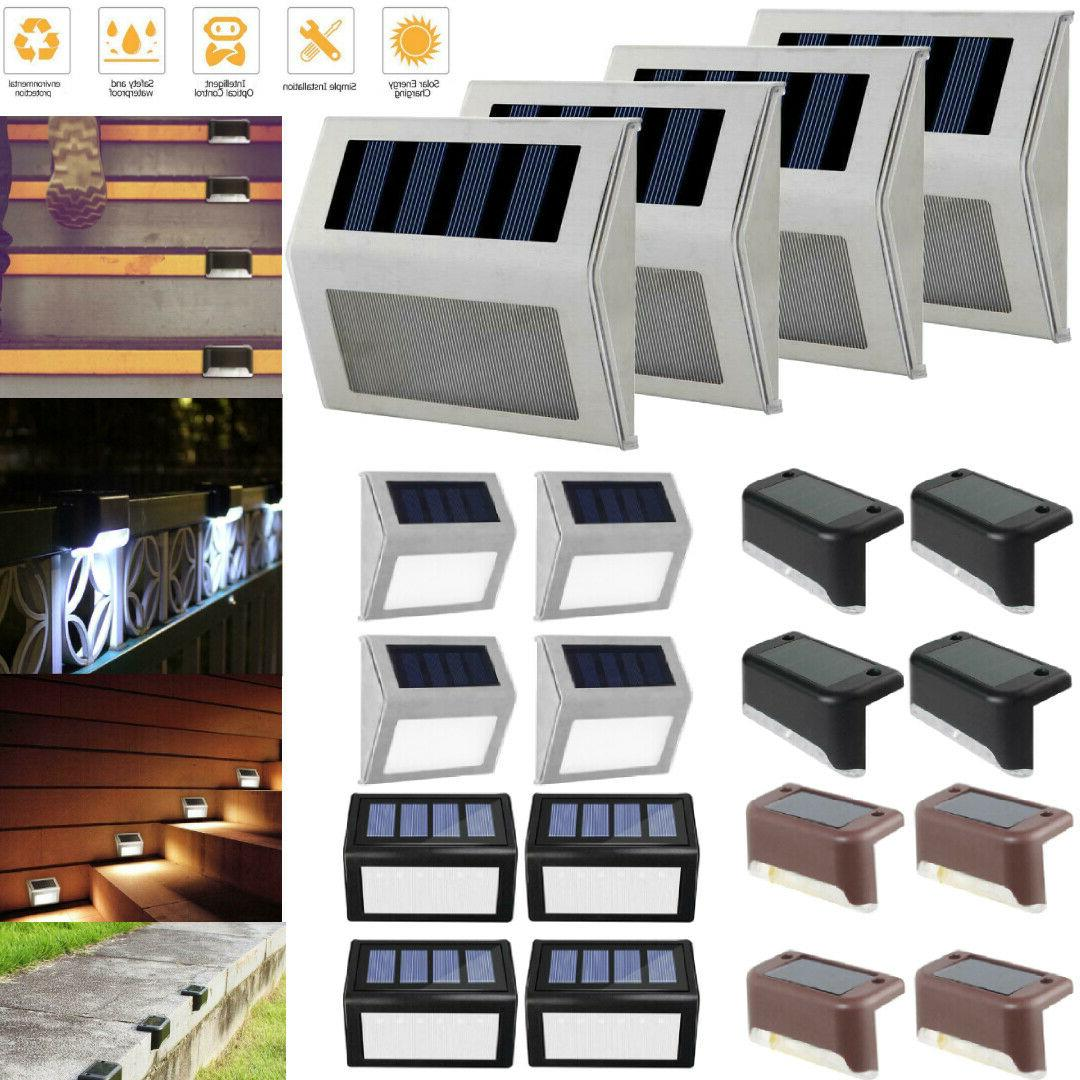 1 12pack solar power led deck lights