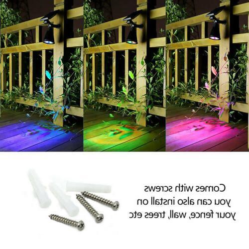 1/2/4Pack LED Landscape Solar Lights Light Garden Lawn Path Lamp