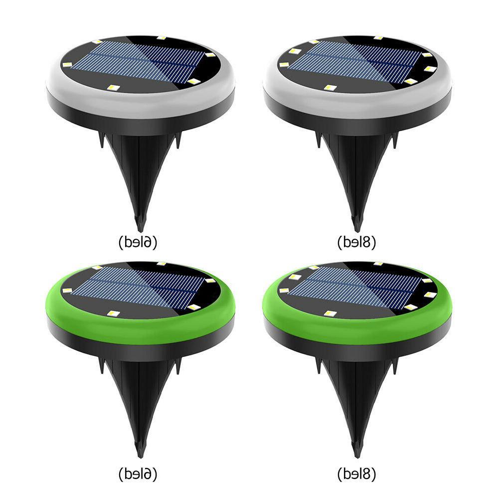 1/2/4Pack LED Solar Disk In-Ground