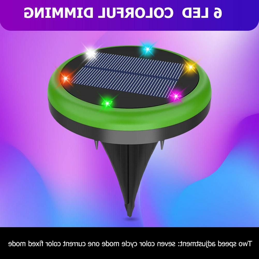 1/2/4Pack Solar Powered Disk In-Ground