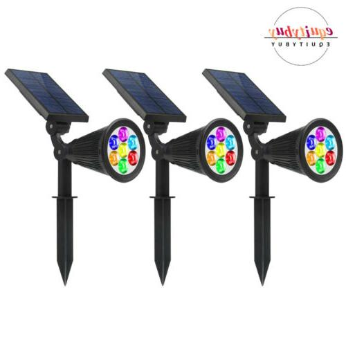 1 2 4pcs solar power spot lights