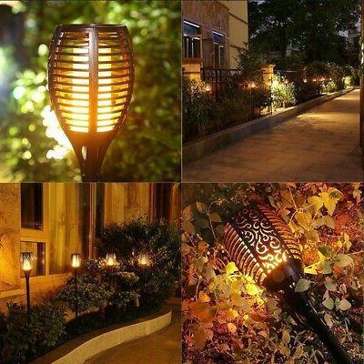 4 Flickering Lamps Dancing Flame Torch Garden Lights