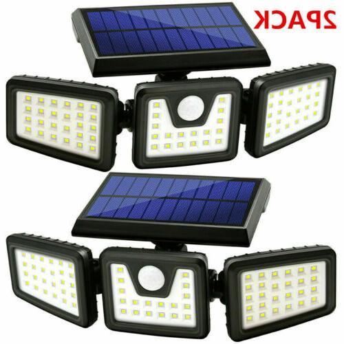 1 2pack solar lights motion sensor security