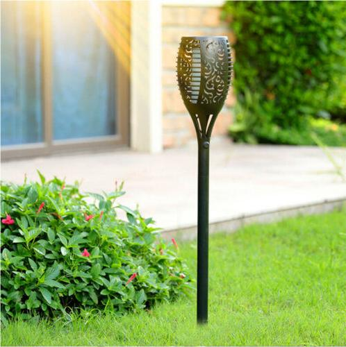 Dancing Solar Flickering Flame Torch Lights 96 LED Outdoor W
