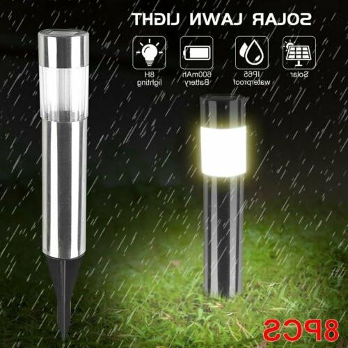 1-8Pcs Pathway Waterproof Landscape Yard Lamp US
