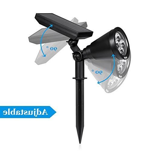 Solar Spotlights, 4 LED Lighting, Adjustable Solar with for Yard Driveway Pathway Pool Tree
