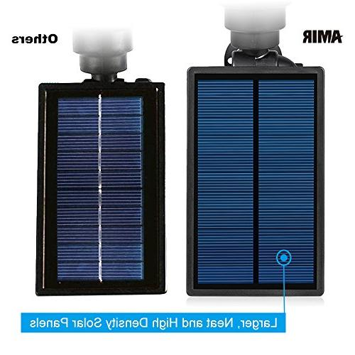 AMIR Solar Spotlights, Upgraded Garden Lights 4 LED Adjustable Lights with Auto for Yard Driveway Pool Tree