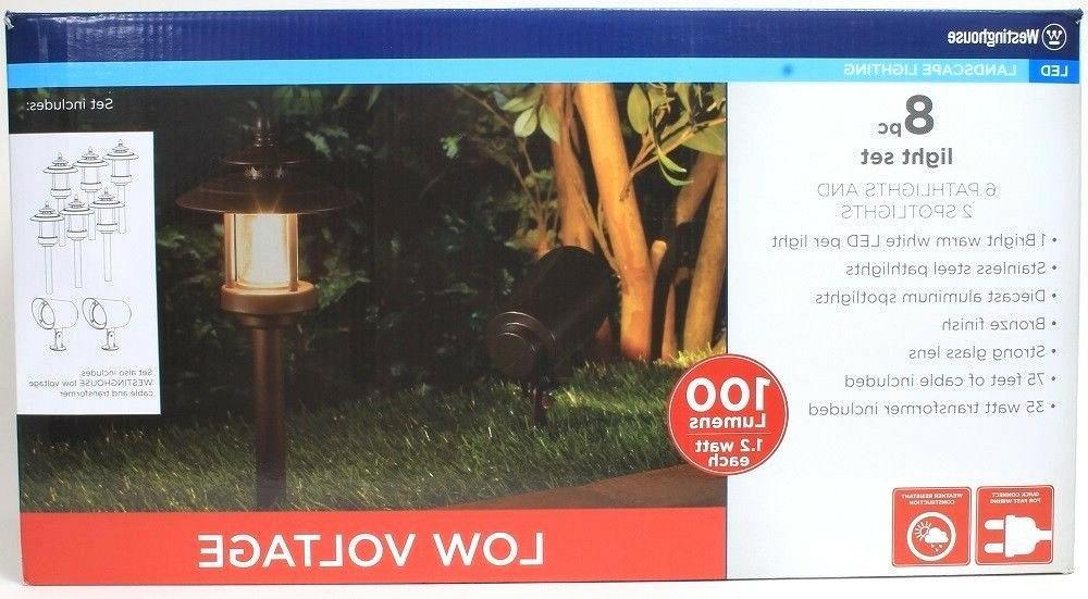 1 Westinghouse 8 Pc Landscape Light Set 6 Pathlights 2 Spotl