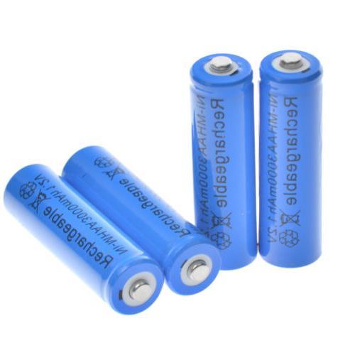 10 Rechargeable Batteries NiMH 3000mAh USA