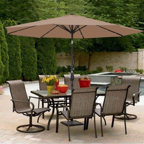 10 ft solar powered patio umbrella 32led