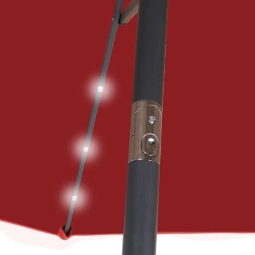 10ft Solar Umbrella LED with Push Button Crank