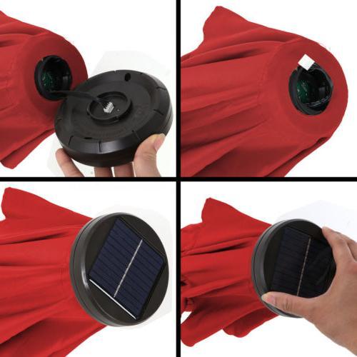 10ft Umbrella LED with Button Tilt Crank