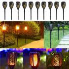 10 Pack 96 LED Flickering Flame Solar Torch Light Garden Lam