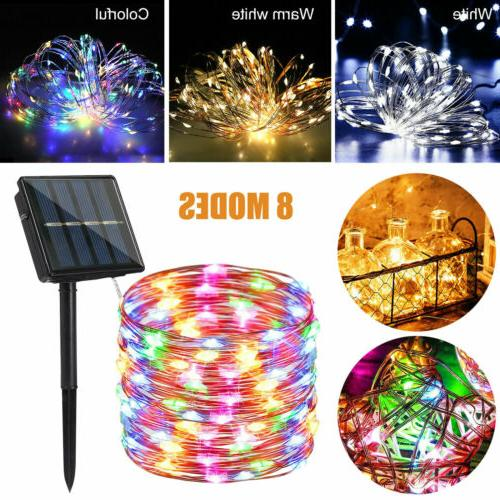 100-200 Solar Power Fairy Lights Party Xmas Decor Outdoor