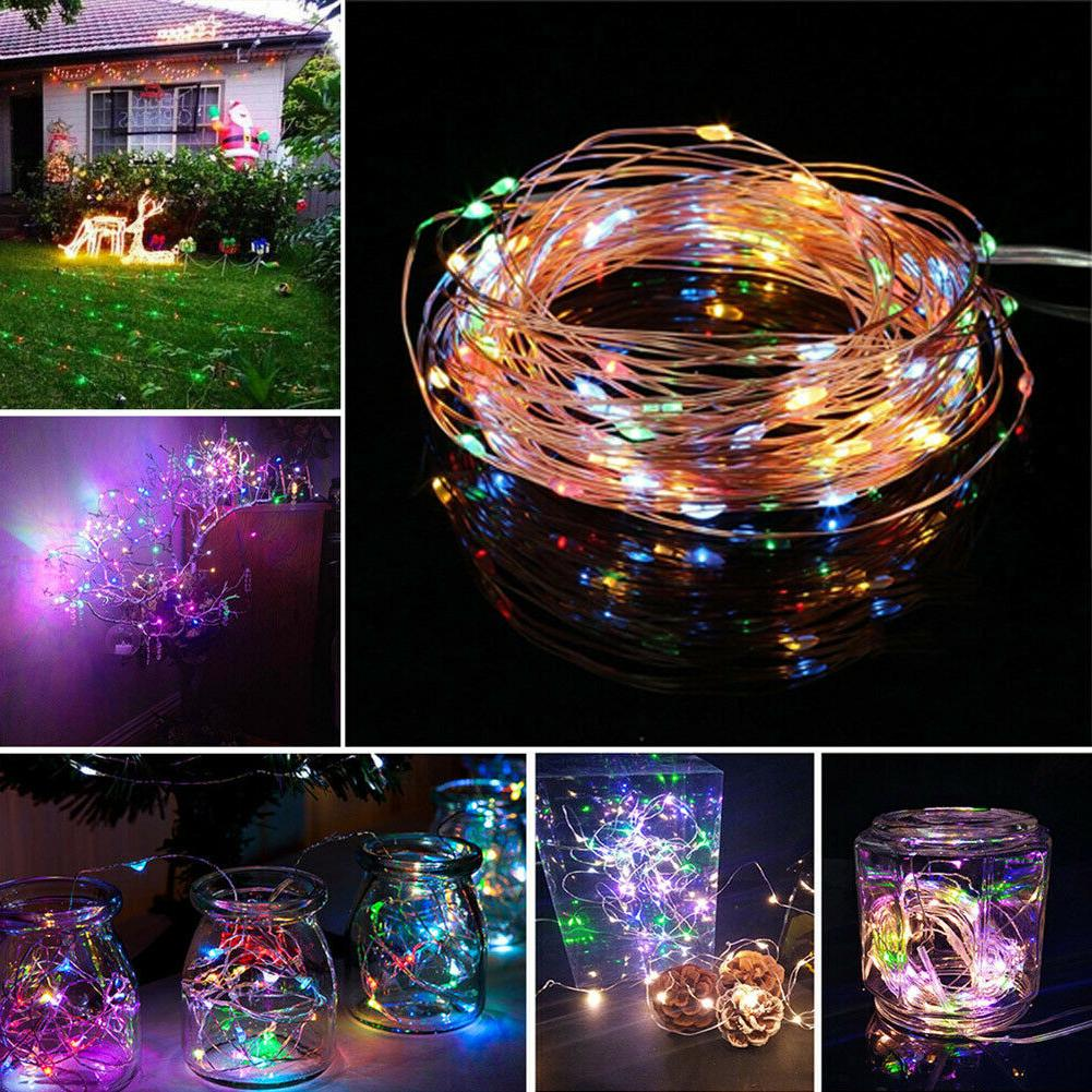 100-200 Solar Power Fairy Lights Lamp Party Outdoor